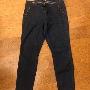 NWOT. Loft dark blue dress jeans. Curvy 8